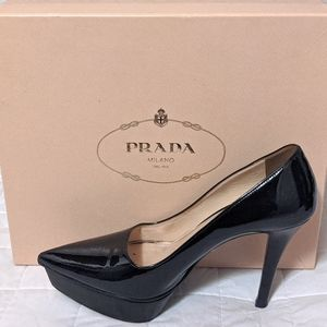 Authentic Prada platform heels